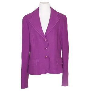 Weekend MaxMara Purple Wool Blazer Jacket Size 14